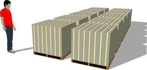 $1 Billion in $100 bills bundled into $10,000 bricks.